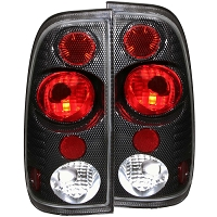 1997-2003 F150 ANZO Version 2 Taillights (Carbon Housing)