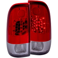 1997-2003 F150 ANZO LED Taillights (Red, Clear)