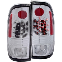 1997-2003 F150 ANZO LED Taillights (Chrome, Clear)