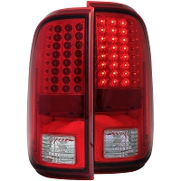 2008-2016 F250 & F350 ANZO LED Tail Lights (Red)