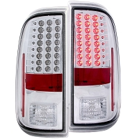 2008-2016 F250 & F350 ANZO LED Tail Lights (Clear/Chrome)