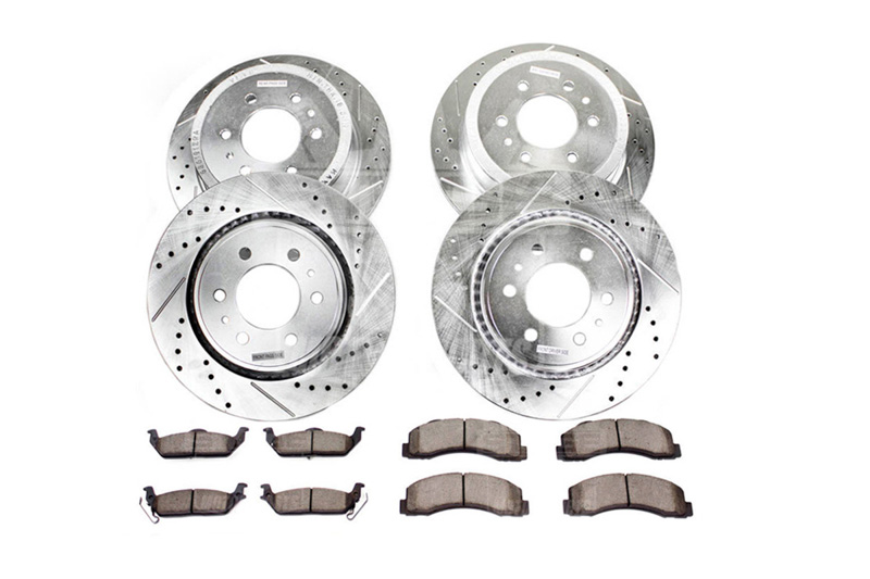Power Stop K1782-36 Front /& Rear Z36 Truck and Tow Brake Kit