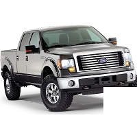 2009-2014 F150 Bushwacker Pocket Style Fender Flares (Pre-Painted Oxford White)