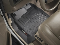 1999-2007 F250 & F350 Regular Cab WeatherTech Driver & Passenger FloorLiners - Black (Fits Models w/out 4WD Floor Shifter)