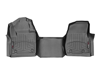 2017-2019 F250 & F350 Regular Cab WeatherTech Driver & Passenger FloorLiners - Black (Fits Models w/ 4WD Floor Shifters and Carpet Flooring)