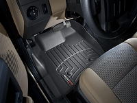2011-2012 F250 & F350 Regular Cab WeatherTech Driver & Passenger FloorLiners - Black (Fits Models w/out 4WD Floor Shifters and w/ Carpet Flooring)