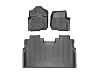 2015-2018 F150 SuperCrew with Front Buckets WeatherTech Digital Fit Floor Liners (Black)