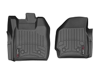 2013-2016 F250 & F350 Regular Cab WeatherTech Driver & Passenger FloorLiners - Black (Fits Models w/ 4WD Floor Shifters and w/ Vinyl Flooring)