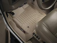 1999-2007 F250 & F350 Regular Cab WeatherTech Driver & Passenger FloorLiners - Tan (Fits Models w/out 4WD Floor Shifter)