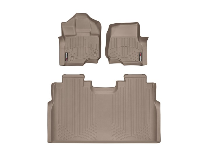 15-20 F150 & Raptor SuperCrew WeatherTech Tan Digital Fit Liners