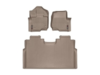 2015-2019 F150 & Raptor  SuperCrew WeatherTech Floor Liner Digital Fit (Tan)
