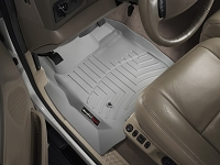 1999-2007 F250 & F350 Regular Cab WeatherTech Driver & Passenger FloorLiners - Gray (Fits Models w/out 4WD Floor Shifter)