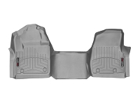 2017-2019 F250 & F350 Regular Cab WeatherTech Over-Hump FloorLiner - Gray (Fits Bench Seats w/ Carpet Flooring)