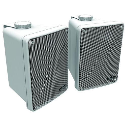 KICKER Full Range Indoor/Outdoor Speakers - White