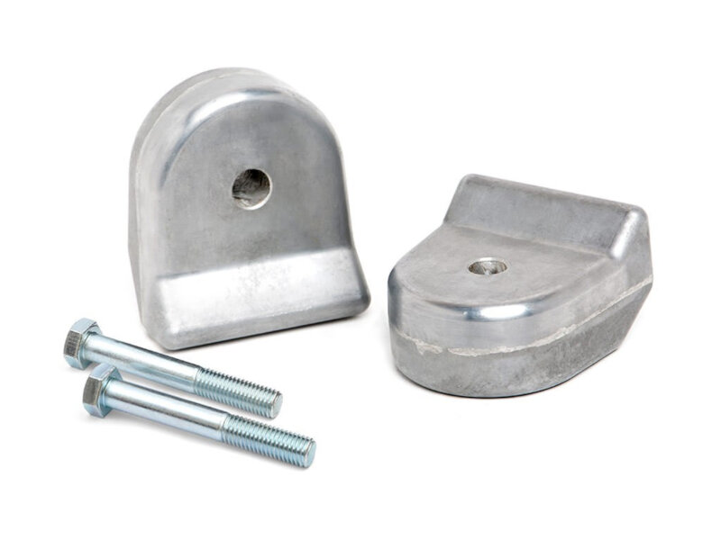 """Fits 05-20 Ford F-250 F-350 1.5/"""" Front Spring Spacers Level Lift Kit 4WD Silver"""