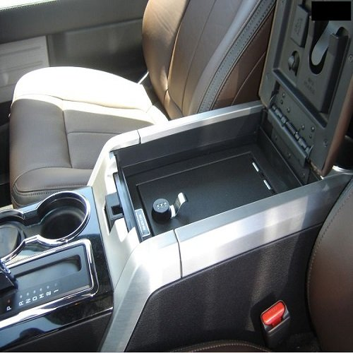 09-14 F150 Console Vault Flow-Through Console Gun Safe