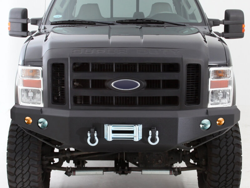 2011 2016 f250 f350 super duty smittybilt front bumper black 612831. Black Bedroom Furniture Sets. Home Design Ideas