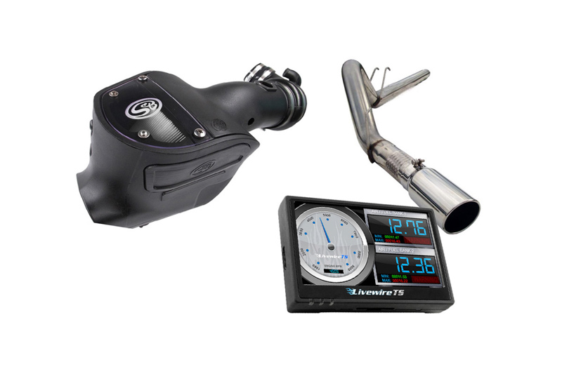 2008-2010 F250 & F350 6.4L Phase 2 Kit - Cold Air Intake, Exhaust, Tuner & 3 Custom Tunes