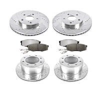 Front Slotted Stoptech 937.66032 Street Axle Pack