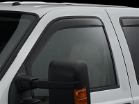 1999-2016 F250 & F350 WeatherTech Front Side Window Deflectors (Dark Smoke)