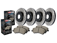 2006-2010 F250 & F350 4WD StopTech Street Axle-Pack Front & Rear Drilled & Slotted Brake Kit