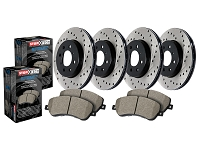 2006-2010 F250 & F350 4WD StopTech Street Axle-Pack Front & Rear Drilled Brake Kit