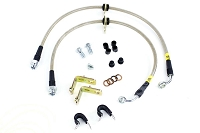 2007-2012 Mustang GT500 StopTech Steel Brake Lines (Front / OEM Brakes)