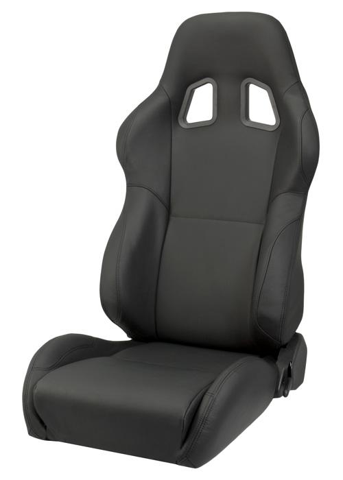 Focus St Performance Parts >> Corbeau A4 Racing Seat (Black Leather) L60091