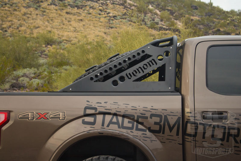 2004-2019 F150 & SVT Raptor ADD Venom Chase Rack with Tire Carrier Not Light Mounts C01518NA0103