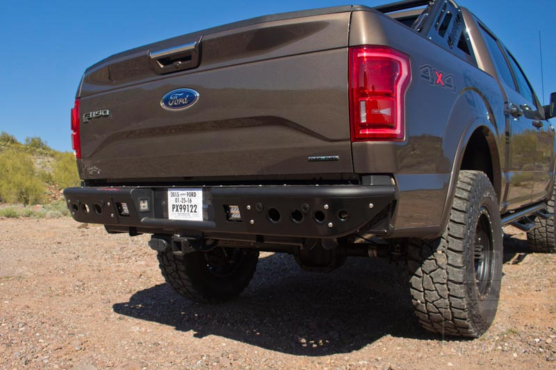 2015-2016 F150 ADD Venom Off-Road Rear Bumper on a 2015 F150 5.0L