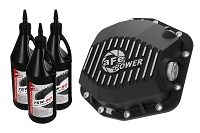 2019 Ford Ranger AFE Black Rear Differential Cover (Machined/Pro Series) w/ Gear Oil