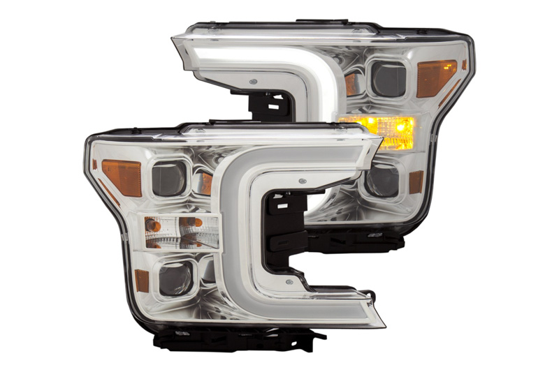 2018-2019 F150 ANZO Plank Style Switchback LED Projector
