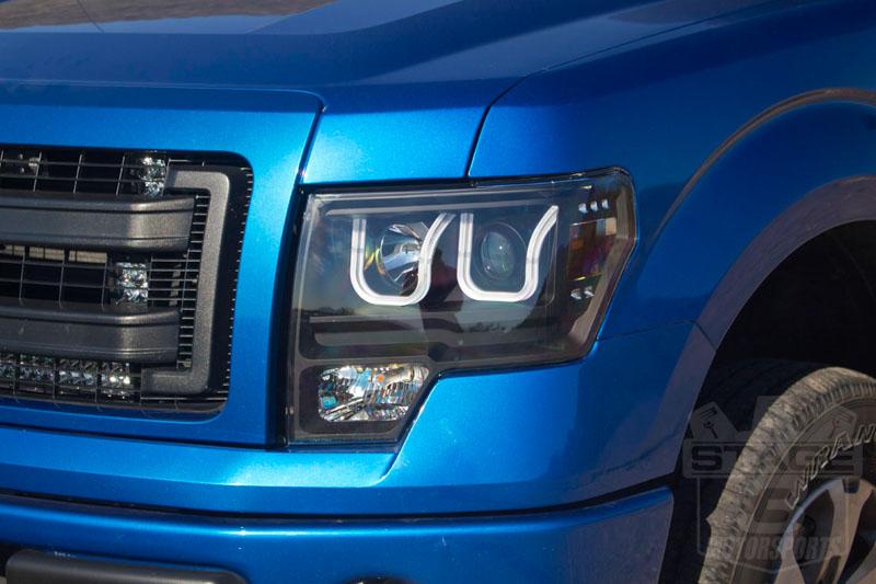 2009 2014 F150 Raptor Anzo U Bar Headlights Black 111263