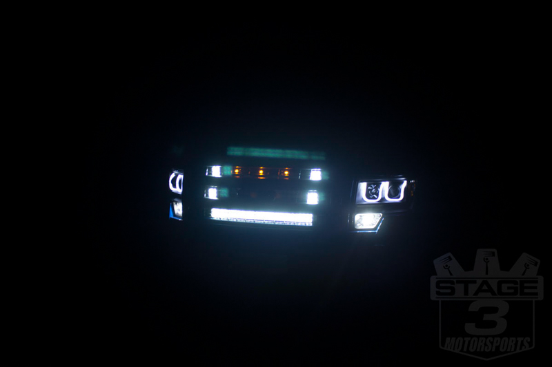 Rigid industries 28 e series led light bars 28 inch e series white combo light bar behind the grille of a 2013 aloadofball Images
