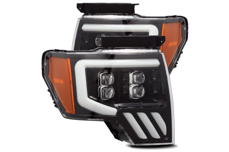 2014 F150 Headlights >> 2009 2014 F150 Alpharex Nova Series Jet Black Led Projector Headlights 880190