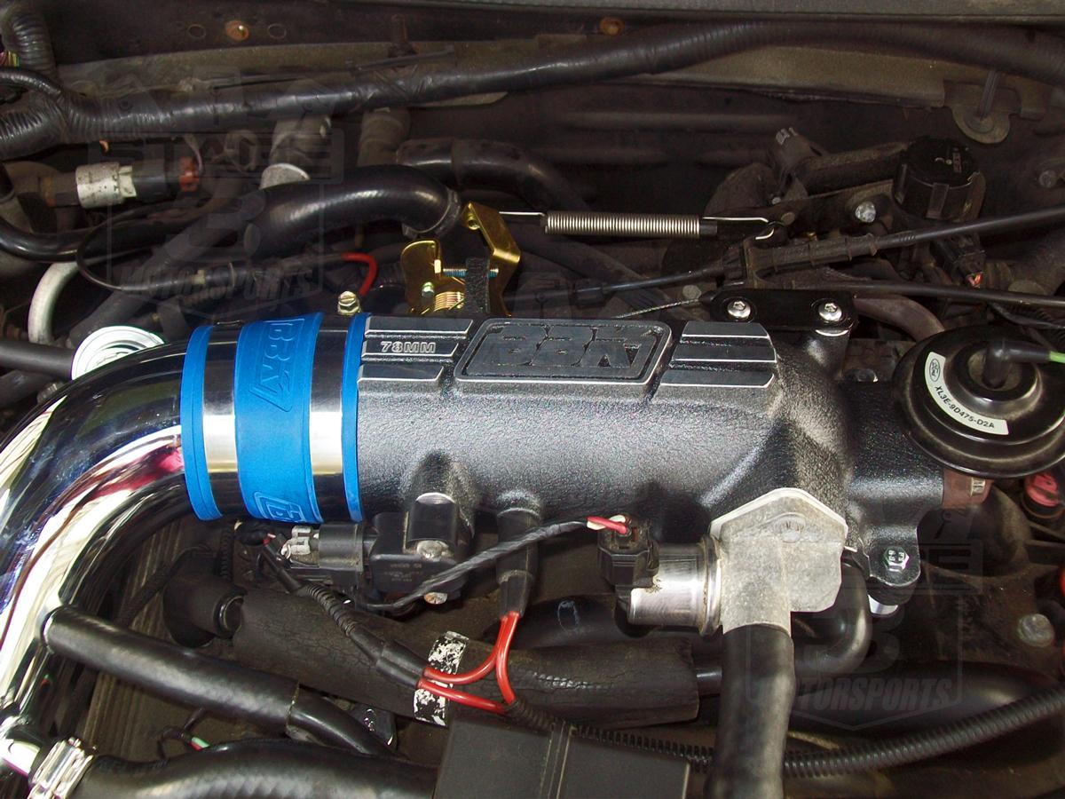 Mustang Gt Bbk Mm Throttle Body Intake Plenum Installed on 1996 Ford Ranger 3 0 Motor