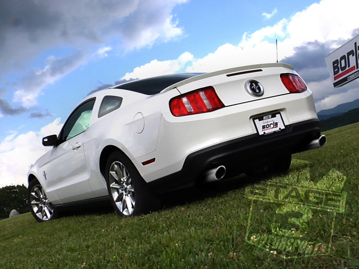2011-2014 Mustang 3 7L V6 Borla Touring Axle-Back Exhaust System