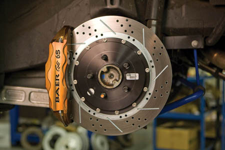 Power Stop Brakes >> 2005-2014 Mustang Baer 6 Piston Extreme DecelaPad Ceramic Brake Pads BD1247