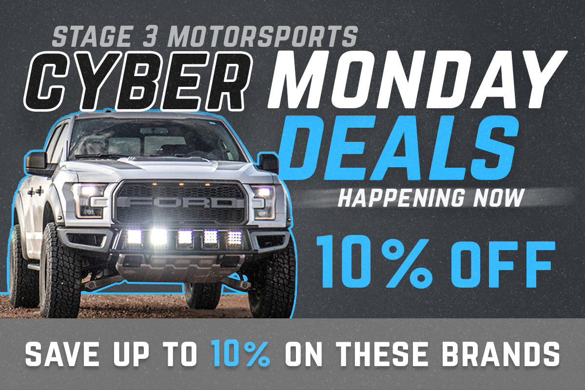 Stage 3's 10% Off Black Friday & Cyber Monday Deals & Discounts!