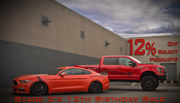 Stage 3's 12th Birthday 12% Off Sales Event!