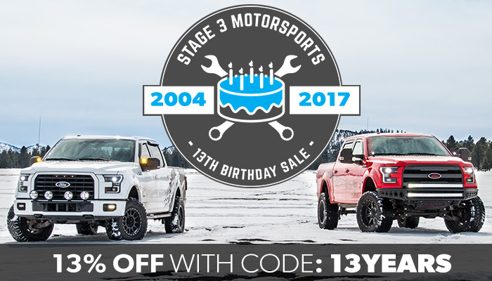 Stage 3's 13th Birthday, 13% Off Sale!