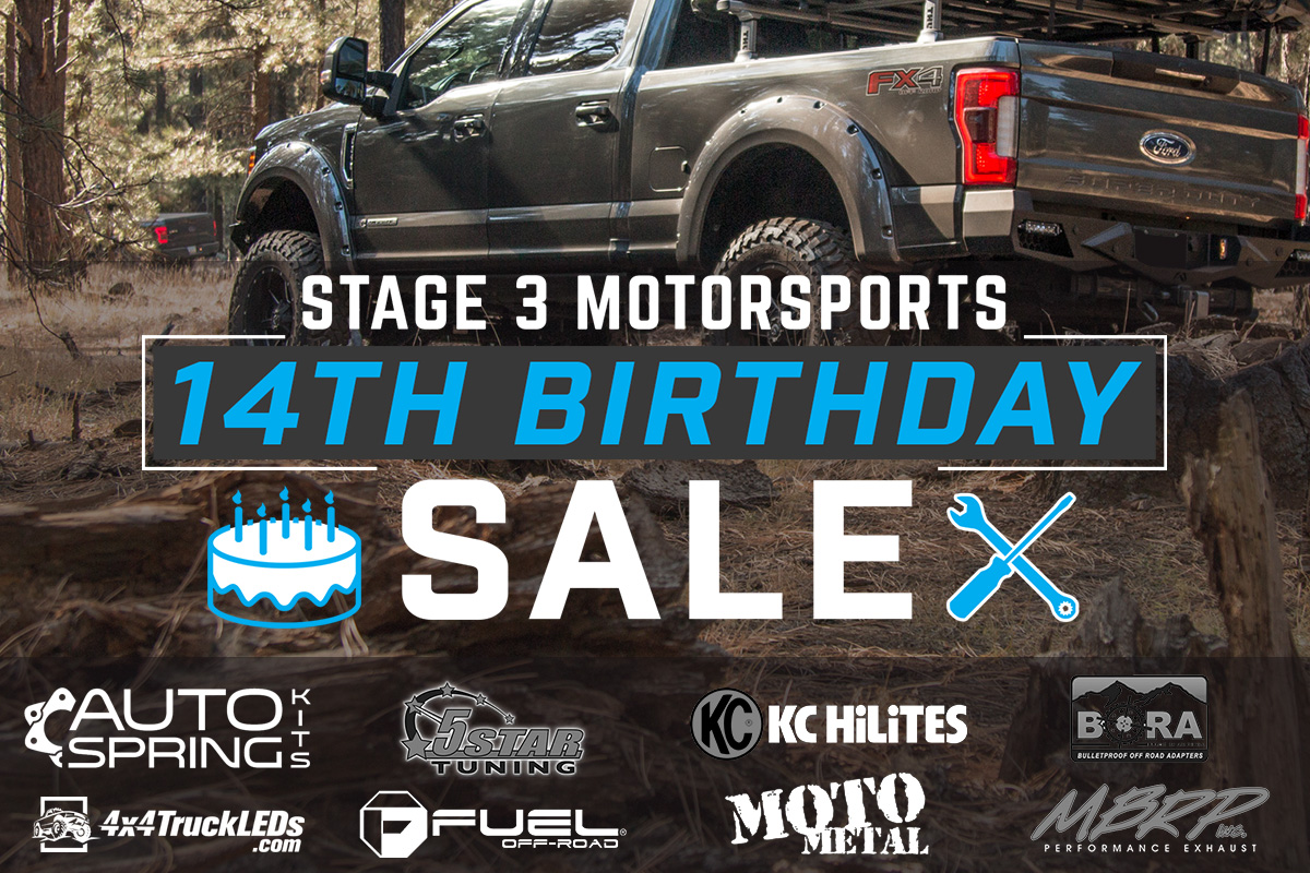 Stage 3's 14th Anniversary 14% Off Sales Event!