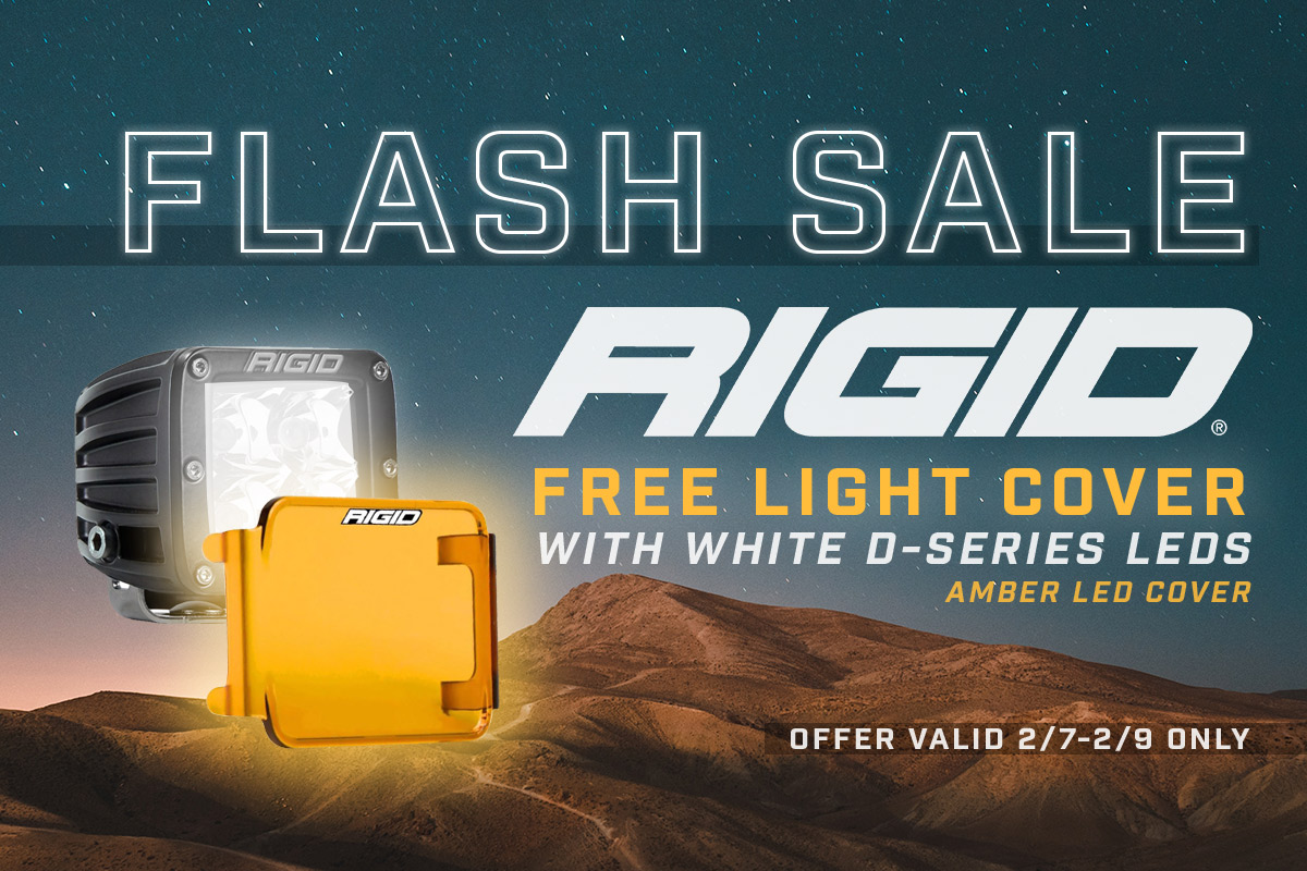 Rigid Industries Amber Light Cover Flash Sale!
