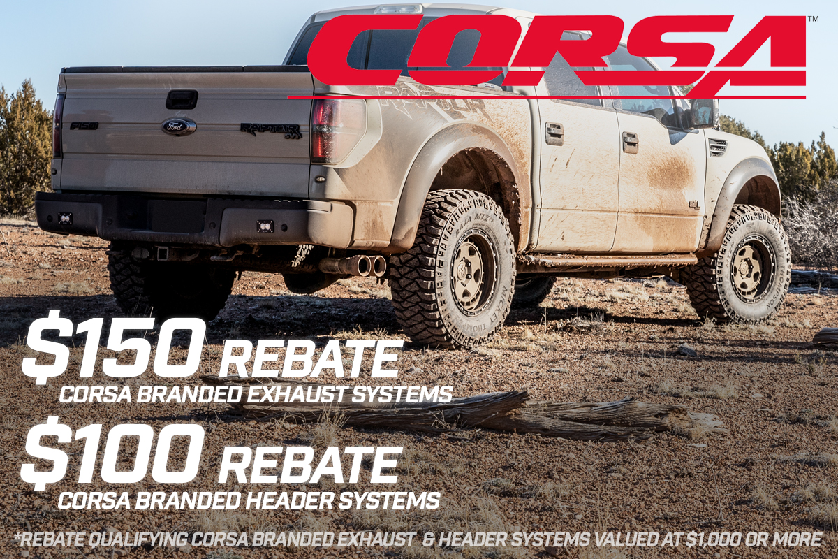 March 2019 Corsa Exhaust Rebate