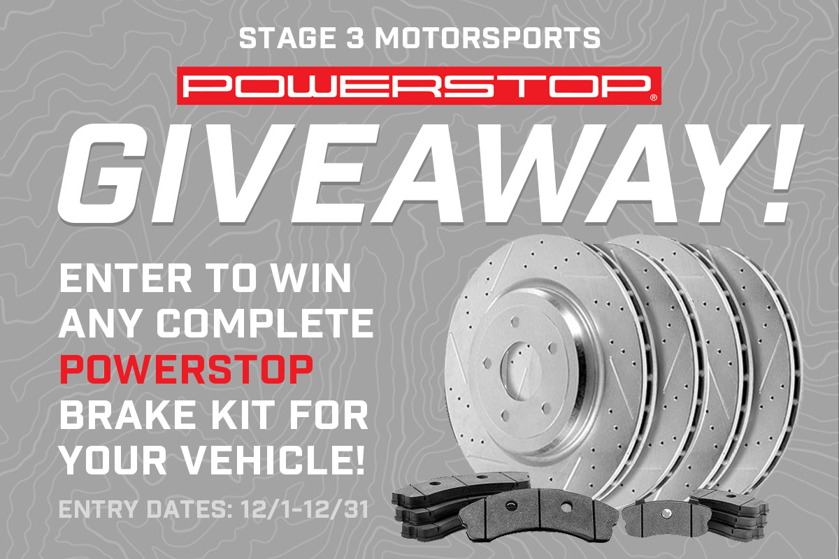 Stage 3's December 2019 Power Stop Brake Kit Giveaway!