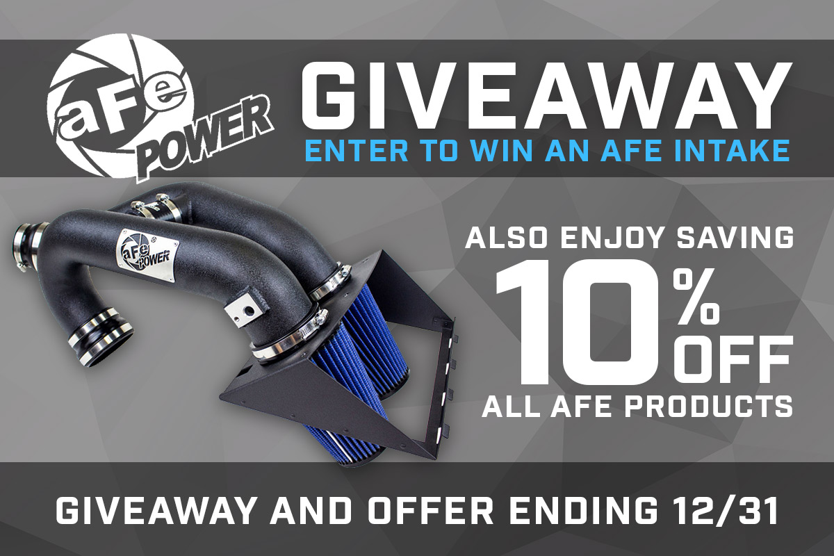 10% Off aFe and aFe Intake Giveaway!