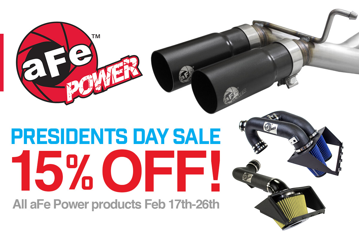 aFe's 15% Off President's Day Sales Event