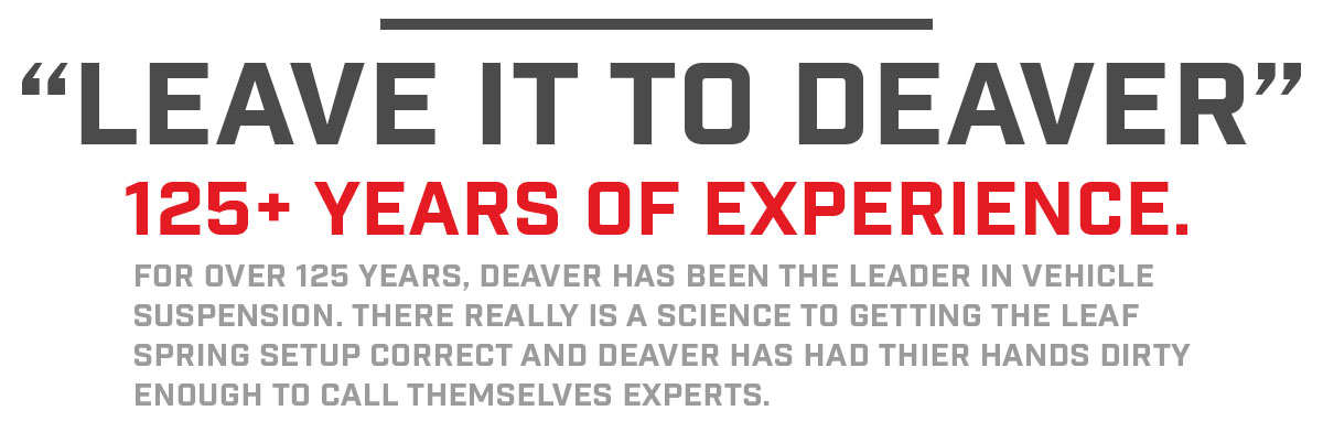 Deaver: 125 years of Leaf Spring Experience!