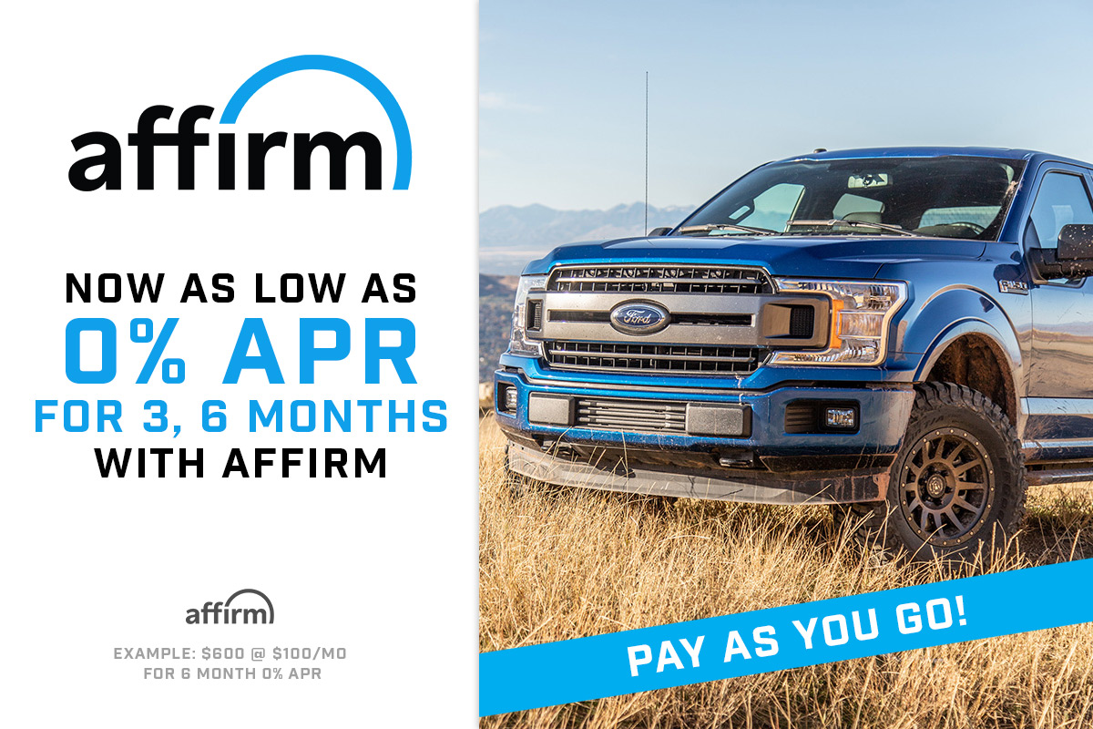 0% Financing from Affirm at Stage 3!