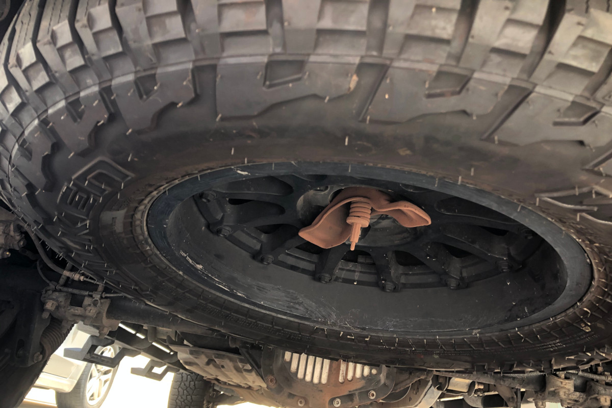 2011 F150 with Bigger Spare Tire Installed